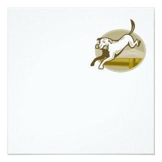 Obstáculo de salto do treinamento do cão do convites personalizado