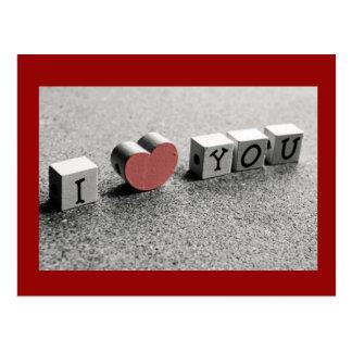 Obstrui eu te amo o cartão