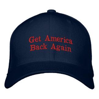 Obtenha a América outra vez o boné de beisebol