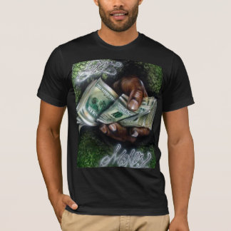 Obtenha a camisa da arte dos grafites do dinheiro