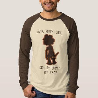 Obtenha a esse outta do funk minha cara camisetas