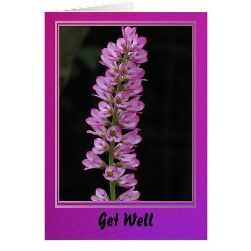 Obtenha a flor cor-de-rosa boa cartões