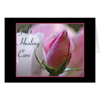 Obtenha a poço o cartão cor-de-rosa