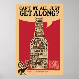 """""""Obtenha ao longo"""" do poster político"""