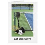Obtenha bem para o jogador de ténis cartoes