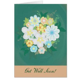 """""""Obtenha cartão do buquê da flor do poço logo"""""""