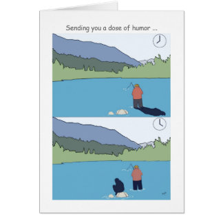 Obtenha cartões logo de pesca bons, pescador