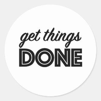Obtenha coisas feitas! Etiqueta