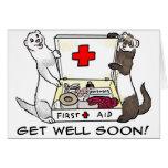 Obtenha logo o cartão bom da doninha