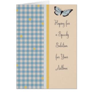 Obtenha logo o cartão bom para a asma com