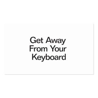 Obtenha longe de seu teclado cartões de visita