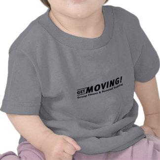 Obtenha movente Agrupe a malhação o treinamento T-shirts