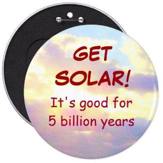 OBTENHA o botão SOLAR Bóton Redondo 15.24cm