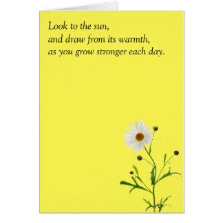 Obtenha o cartão bom com sorrisos da margarida
