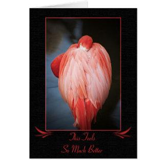 Obtenha o cartão bom do flamingo