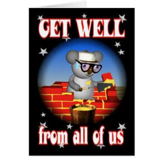 Obtenha o cartão bom do pedreiro do Koala