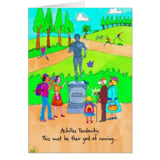 Obtenha o cartão bom para o corredor - Tendonitis