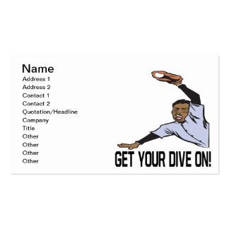 Obtenha seu mergulho sobre cartão de visita
