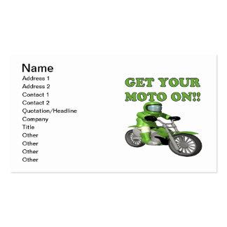 Obtenha seu Moto sobre Cartão De Visita