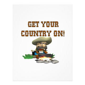 Obtenha seu país em 3 modelo de panfleto