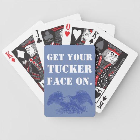 Obtenha seu Tucker enfrentam sobre.  Edição da Baralho Para Pôquer