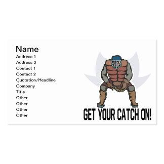 Obtenha sua captura sobre cartão de visita