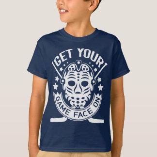 Obtenha sua cara do jogo na camiseta do hóquei