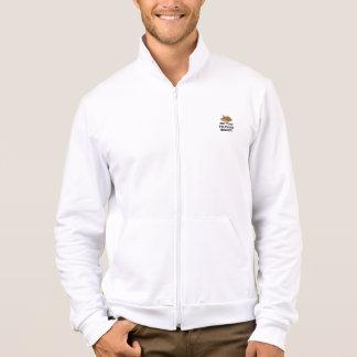 Obtenha suas calças gordas prontas jaqueta com estampa