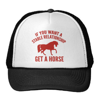 Obtenha um cavalo boné