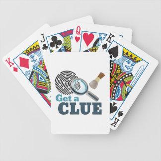 Obtenha um indício baralhos de pôquer