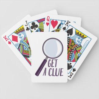 Obtenha um indício jogos de cartas