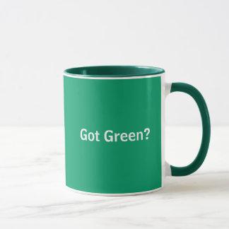 """Obteve"" a caneca ambiental verde"