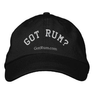 """""""Obteve o rum?"""" Boné bordado"""