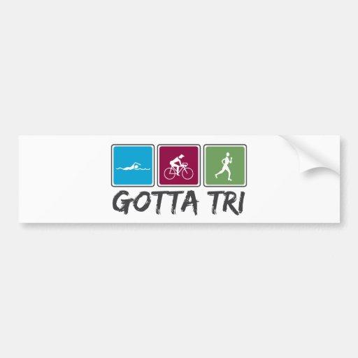 obtido a tri (Triathlon) Adesivo