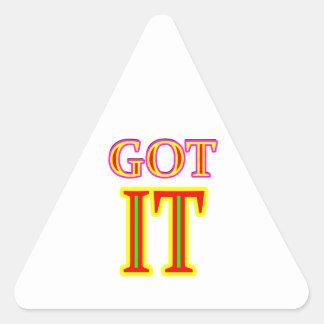 Obtido LHE o jgibney os presentes de Zazzle do Adesivo Triangular