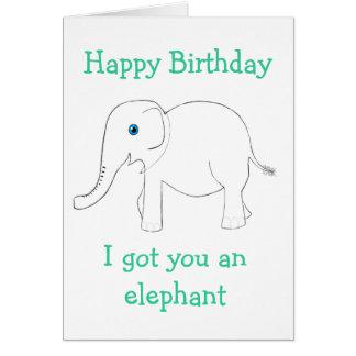Obtido lhe um cartão do elefante