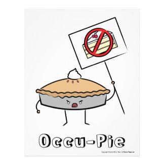 Occu-Torta valor poster brancos Panfletos Personalizado