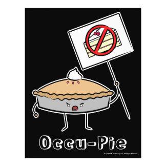 Occu-Torta valor poster preto Panfleto Personalizados