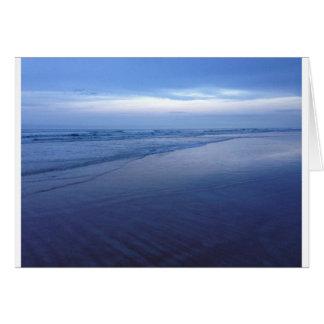 Oceano azul bonito cartão comemorativo