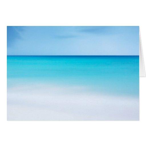 Oceano bonito cartão