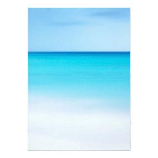 Oceano bonito convites personalizados