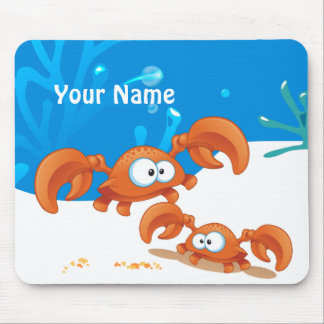 Oceano bonito Mousepad aquático do caranguejo