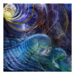 Oceano do Fractal Posters