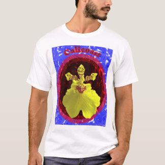 Oceanos das orquídeas camiseta
