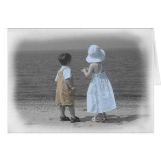 oceanview cartão comemorativo