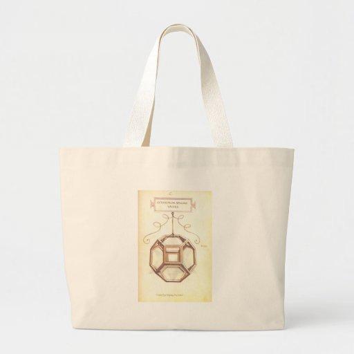 Octahedron de Leonardo da Vinci Bolsa De Lona