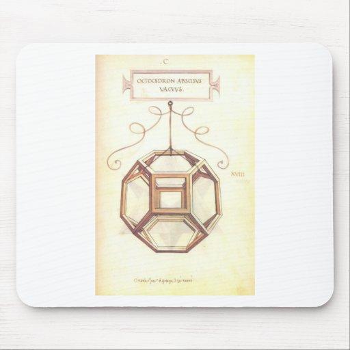 Octahedron de Leonardo da Vinci Mousepad