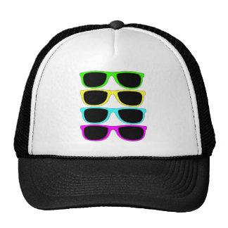 Óculos de sol do Rgb Fluo do vintage Boné
