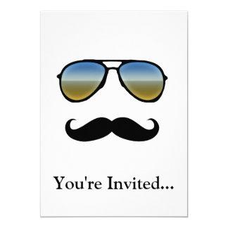 Óculos de sol retros engraçados com Moustache Convites