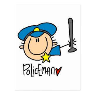 Ocupação do polícia cartão postal